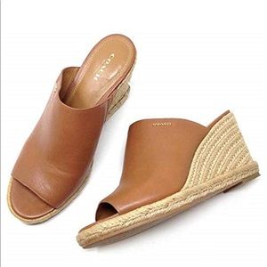 Coach Gayle Espadrille Wedge Sandal size 8